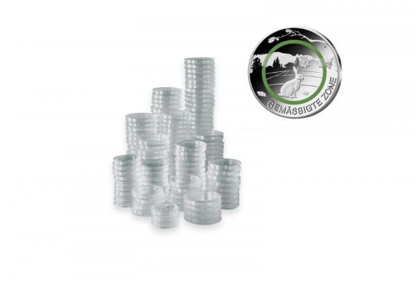 100 Kapseln für BRD 5 Euro Münze mit Polymerring