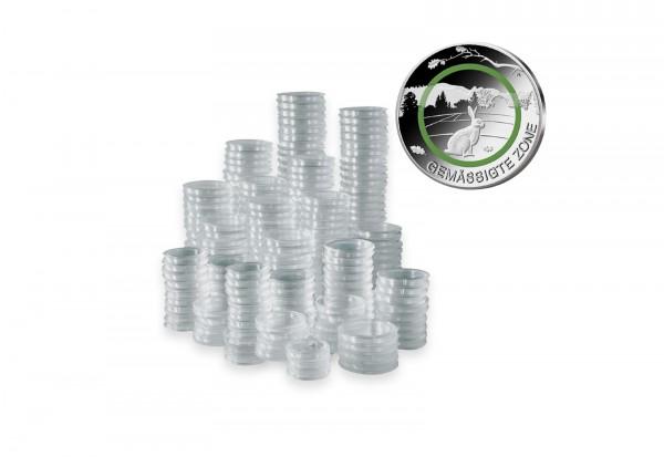 500 Kapseln für BRD 5 Euro Münze mit Polymerring