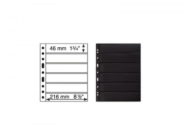 5 Briefmarken Hüllen im Format 46 x 216 mm