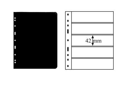 OPTIMA-Hüllen für Briefmarken in Schwarz