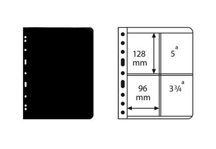 VARIO-Hüllen für Ringbinder geviertelt (schwarz)