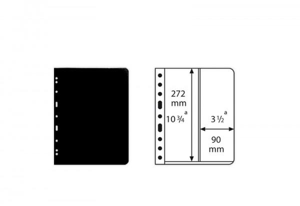 VARIO-Hüllen für Ringbinder senkrechte 2er Einteilung (schwarz)