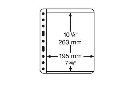VARIO-PLUS-Hüllen für Ringbinder ohne Einteilung (schwarz)