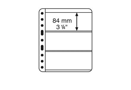 VARIO-PLUS-Hüllen für Ringbinder 3er Einteilung (schwarz)