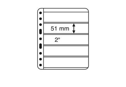 VARIO-PLUS-Hüllen für Ringbinder 5er Einteilung (schwarz)