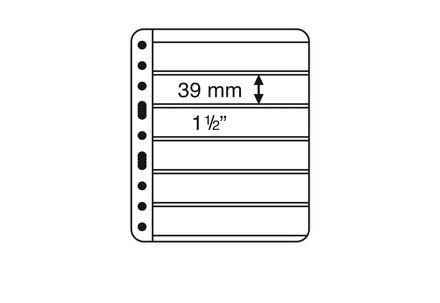 VARIO-PLUS-Hüllen für Ringbinder 6er Einteilung (schwarz)