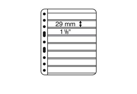 VARIO-PLUS-Hüllen für Ringbinder 8er Einteilung (schwarz)