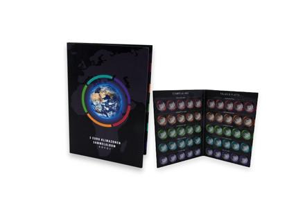 Sammelalbum für 10 x BRD 5 Euro Klimazonen der Erde Münzen 2017-2021