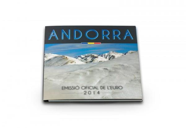Leerblister für offiziellen Kursmünzsatz Andorra 2014