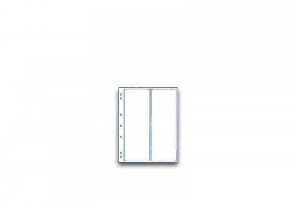 SAM Münzhüllen für 2 Banknoten im 10er Pack bis 80 x 216 mm