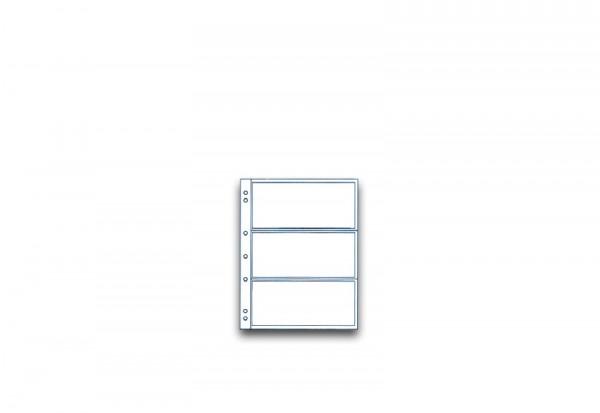 SAM Münzhüllen für 3 Banknoten im 10er Pack bis 165 x 70 mm