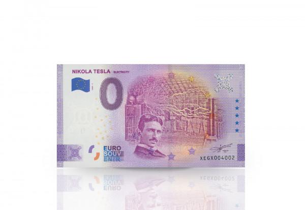 0 Euro Banknote Nikola Tesla Faradayscher Käfig