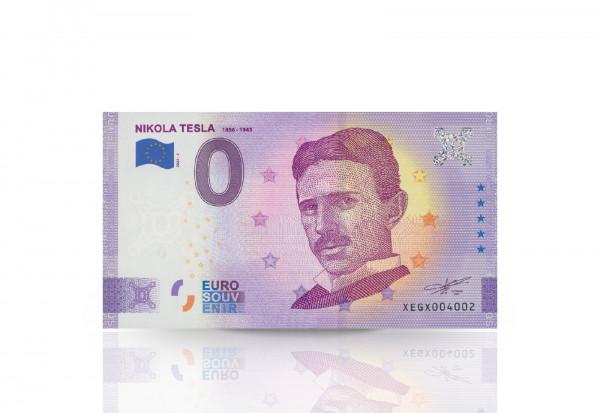 0 Euro Banknote Nikola Tesla Portrait Anniversary