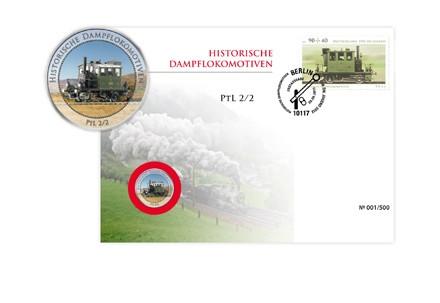 Numisbrief Eisenbahn Dampflokomotive PtL 2/2 Auflage 500