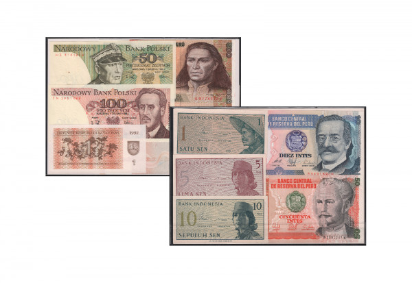 Banknoten aus aller Welt 10er Lot