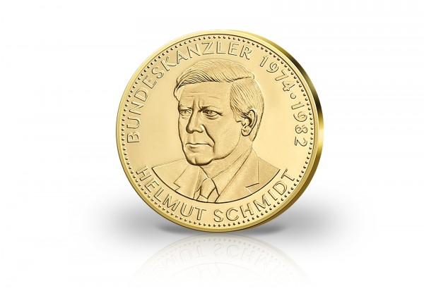 Goldausgabe 1/10 oz Helmut Schmidt PP im Etui