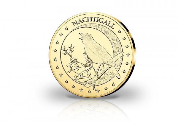 Goldausgabe 1/10 oz Nachtigall PP im Etui