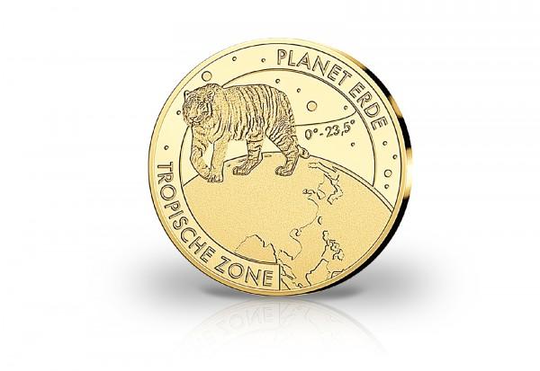 Goldausgabe 1/10 oz Planet Erde Tropische Zone Tiger PP im Etui