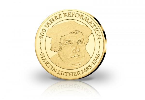 Goldausgabe 1/10 oz Martin Luther 500 Jahre Reformation PP im Etui