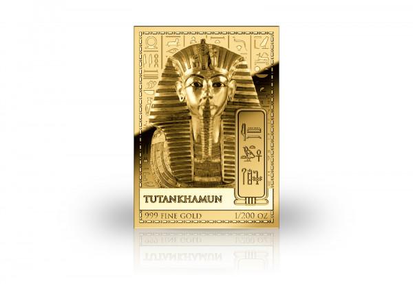 Goldmünze Motiv Tutanchamun