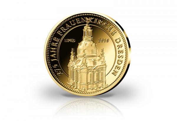 Goldausgabe 1/10 oz 275. Jahrestag Vollendung Dresdner Frauenkirche PP im Etui