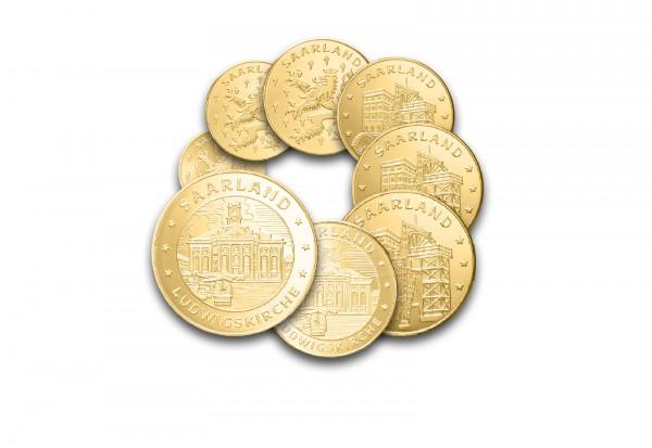 Prestigesatz Deutschland 2013 Saarland mit Goldauflage