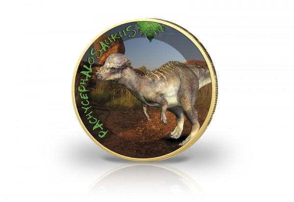 2 Euro mit Farbmotiv Dinosaurier Pachycephalosaurus