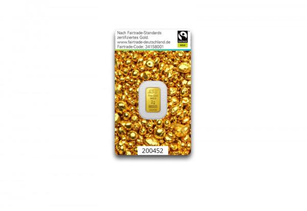 Goldbarren 2 g Schweiz Fairtrade