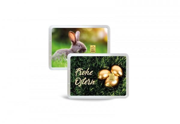 Goldbarren 1 g Frohe Ostern