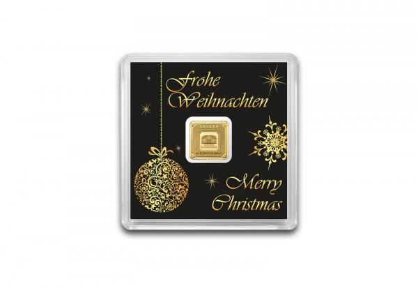 Goldbarren 1 g Weihnachtsedition