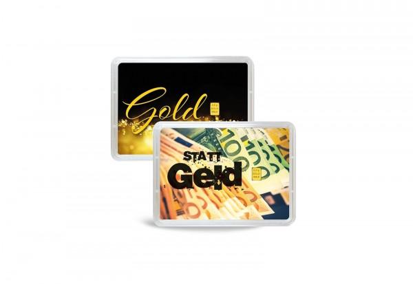 Goldbarren 0,5 g Gold statt Geld