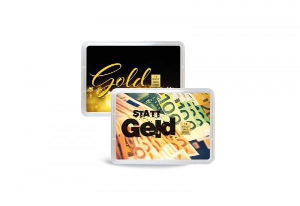 Goldbarren 1 g Gold statt Geld