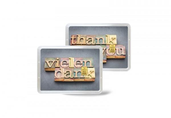 Goldbarren 1 g Vielen Dank