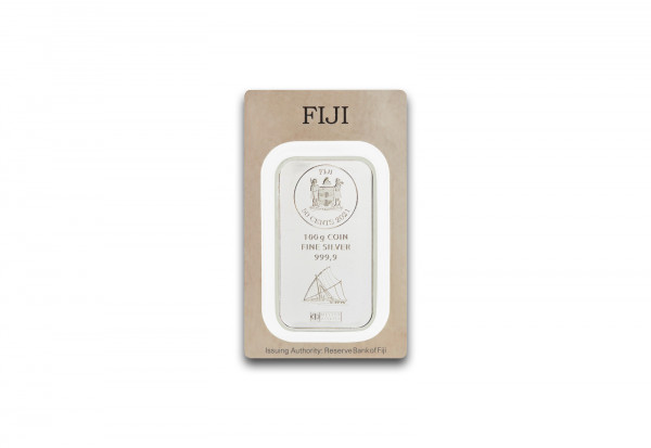 Silber Münzbarren 100 g Fiji