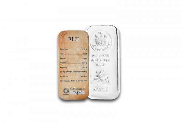 Silber Münzbarren 500 g Fiji