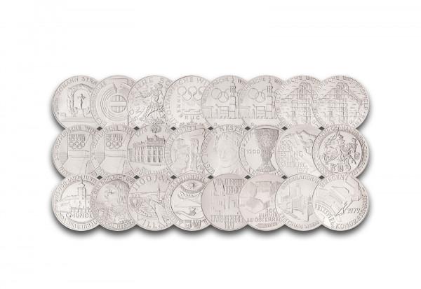 100 Schilling Set 1975-1979 Österreich 24 Münzen