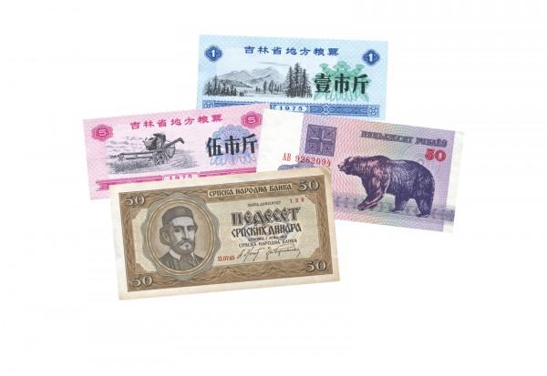 Banknoten aus aller Welt im Sparlot