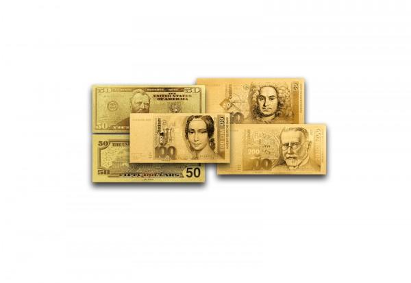 Goldfoliennoten Sparpaket mit 999er Gold