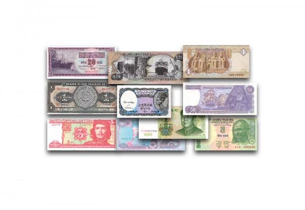 Banknoten Schnäppchen-Abverkauf - Motiv, Land unserer Wahl