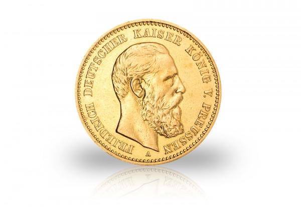 10 Mark Goldmünnzen 1888 Deutsches Kaiserreich Preußen Friedrich III. 2er Set Jaeger-Nr. 247, 248