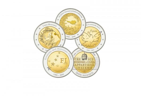 Tauschaktion 5x 2 Euro Proben 10 Jahre Euro Währung
