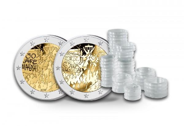 2 Euro 2019 Mauerfall Spar-Set inkl. 50 Kapseln