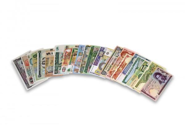 Banknoten Kollektion aus 25 Ländern mit 25 Banknoten
