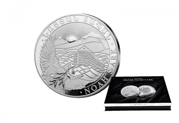 Arche Noah 1 oz Silber 2021 Armenien mit passender Münzkassette