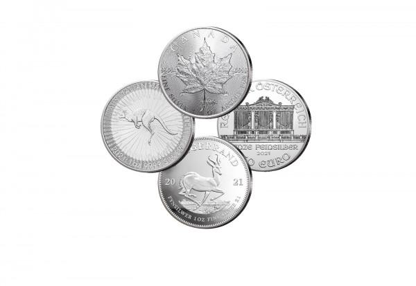 Die besten Vier 1 oz Silber 2021 im 4er Set