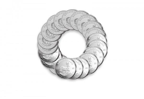 Krügerrand 1 oz Silber 2021 Südafrika im 20er Spar-Set