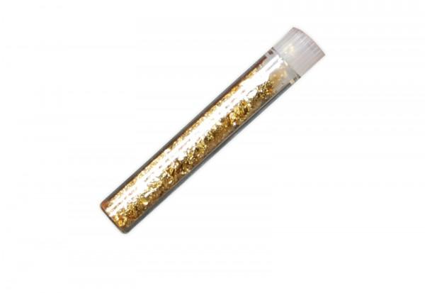 Gold-Phiole mit Blattgold