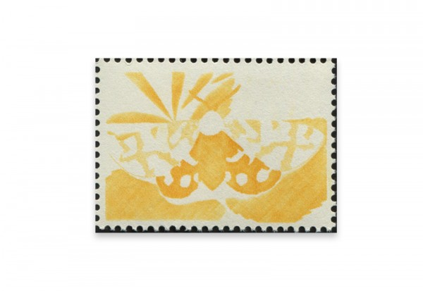 Briefmarken Versuchsdruck WIFAG Schmetterling Phase 1 mit Originalgummierung