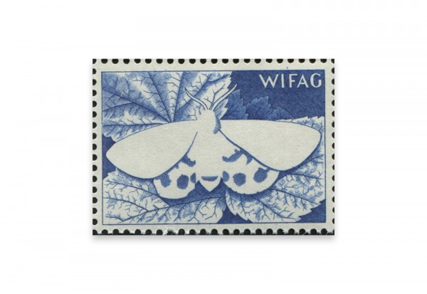 Briefmarken Versuchsdruck WIFAG Schmetterling Phase 3 mit Originalgummierung