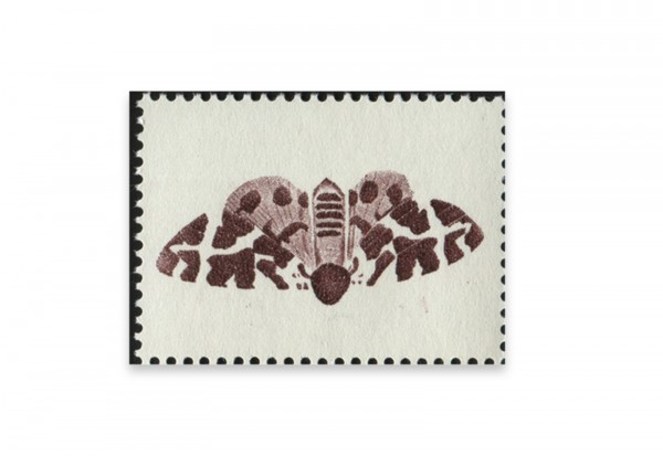 Briefmarken Versuchsdruck WIFAG Schmetterling Phase 4 mit Originalgummierung